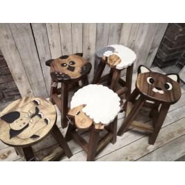 Vysoká dřevěná stolička - PHG
