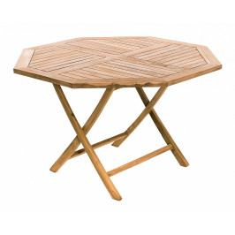 Zahradní skládací stůl osmiúhelník HAGEN ⌀ 120 cm (teak)