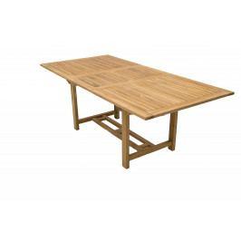 Zahradní obdelníkový stůl MONTANA 160/210 x 100 cm (teak)