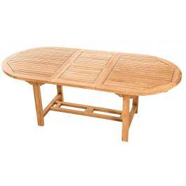 DEOKORK Zahradní oválný stůl SANTIAGO 160/210 x 100 cm (teak)
