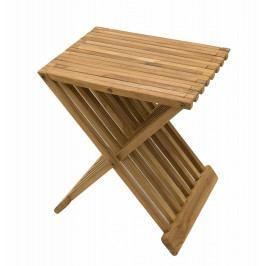 Zahradní odkládací stolek FLOW (teak)