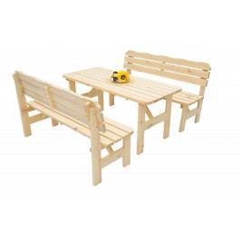 Masivní dřevěná zahradní sestava z borovice 1+2 dřevo 32 mm