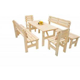DEOKORK Masivní dřevěná zahradní sestava z borovice 1+6 dřevo 32 mm