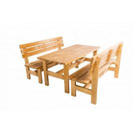 Masivní dřevěná zahradní sestava TEA 1+2 o síle 38 mm