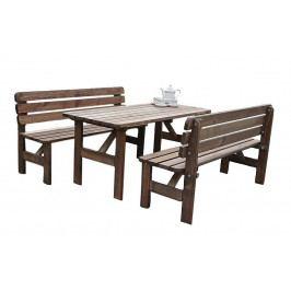 Masivní dřevěná sestava z borovice 1+2 mořená 30 mm (různé délky) 180 cm