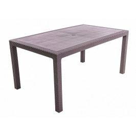 Zahradní stůl z umělého ratanu MANHATTAN 161x95 cm (hnědý)
