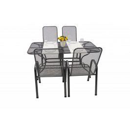 Zahradní kovová sestava SANDRA 1+4 stůl 145x90 cm U506