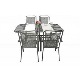 Zahradní kovová sestava SAVANA I. 1+4 Stůl obdelníkový 145x90 cm