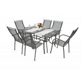 Zahradní kovová sestava ELTON I. 1+6 Stůl obdelník 145x90 cm