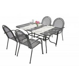 Zahradní kovová sestava CORINA III. 1+4 Stůl obdelníkový 160x95 cm
