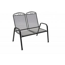 DEOKORK Kovová lavice GREY (černá)