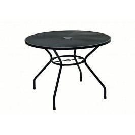 DEOKORK Kovový stůl TAMPA ø 100 cm (černá)