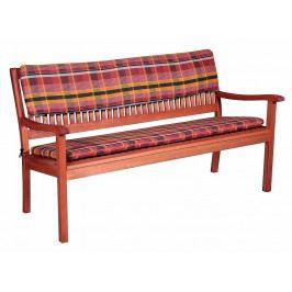 Doppler Sedák na dvoumístnou lavici 24 KÁRO / TERAKOTA