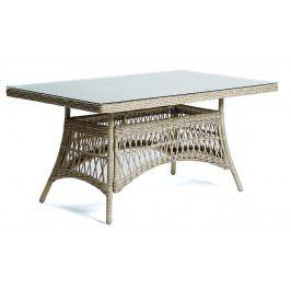 Zahradní stůl z umělého ratanu OXFORD 160x90 cm