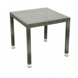 Zahradní ratanový stůl NAPOLI 80x80 cm (šedá)