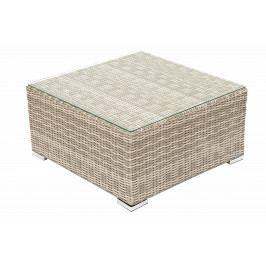 Ratanový stolek/taburet SEVILLA (béžová)