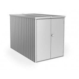 Multifunkční úložný prostorný box Minigaráž  (stříbrná metalíza)