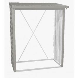 Víceúčelový sklad krbového dřeva - dřevník WoodStock 157 x 102 (šedý křemen metalíza)