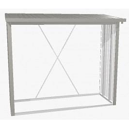 Biohort Víceúčelový sklad krbového dřeva - dřevník WoodStock 229 x 102 (šedý křemen metalíza)