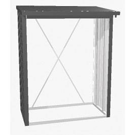 Biohort Víceúčelový sklad krbového dřeva - dřevník WoodStock 157 x 102 (tmavě šedá metalíza)
