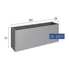 Zvýšený truhlík na zeleninu 2 x 0,5 (šedý křemen metalíza)
