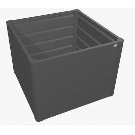 Zvýšený truhlík na zeleninu 1 x 1 (tmavě šedá metalíza)