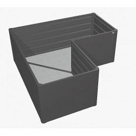 Biohort Zvýšený truhlík na zeleninu L (tmavě šedá metalíza) L (4 krabice)