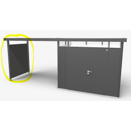 Biohort Boční stěna pro postranní střechu Biohort HighLine H4 (tmavě šedá metalíza)