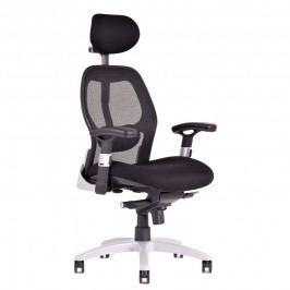 Ergonomická kancelářská židle na kolečkách Office Pro SATURN – s područkami, více barev NET černá