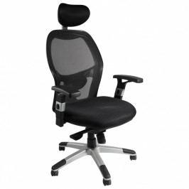 Kancelářská židle Marouk MILANO s podhlavníkem, područkami i bederní opěrou