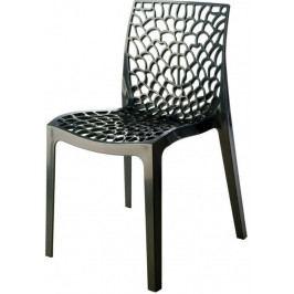 Jídelní plastová židle Stima GRUVYER – bez područek, více barev Antracite