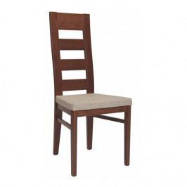 Dřevěná jídelní židle s čalouněným sedákem Stima FALCO – bez područek