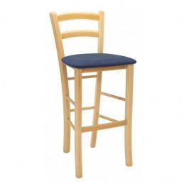 Dřevěná barová židle Stima PAYSANE BAR látka – buk, čalouněný sedák, nosnost 140 kg