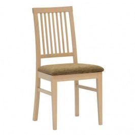 Jídelní dřevěná židle Stima MERIVA – bez područek, čalouněný sedák