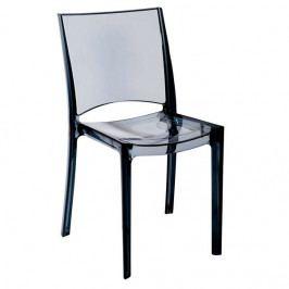 Plastová jídelní židle Stima B-SIDE – bez područek Antracite transparente