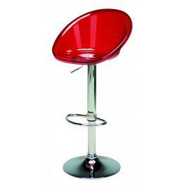Plastová barová židle Stima SPHERE bar – chromovaná podnož Rosso transparente