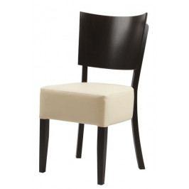 Dřevěná buková jídelní židle LANA – čalouněný sedák, nosnost 140 kg