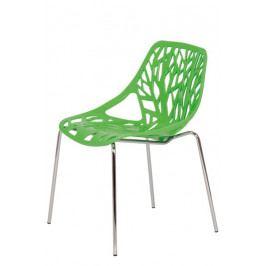 Jídelní židle Bradop BOHUMILA – chrom a plast, bez područek