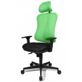Kancelářská židle na kolečkách Topstar HEAD POINT SY – s područkami a podhlavníkem