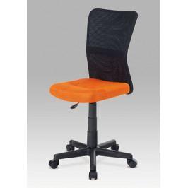 Dětská židle na kolečkách Autronic KA-2325 ORA – černá/oranžová