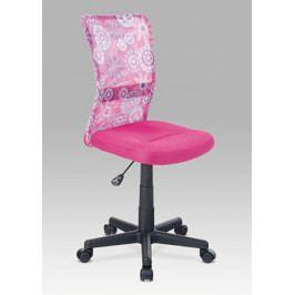 Dětská židle na kolečkách Autronic KA-2325 PINK – růžová