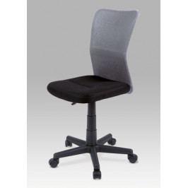 Dětská židle na kolečkách Autronic KA-BORIS GREY – černá/šedá