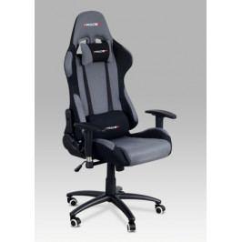 Herní židle na kolečkách ERACER F01 – šedá/černá