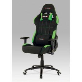 Herní židle na kolečkách ERACER F02 – černá/zelená
