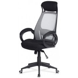 Kancelářská židle na kolečkách Autronic KA-G109 GREY – s područkami, černá/šedá