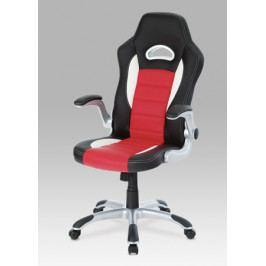 Hráčské křeslo, bílá / červená / černá (KA-N240 RED)