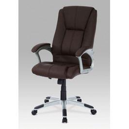 Kancelářská židle na kolečkách Autronic KA-N637 BR – hnědá, s područkami