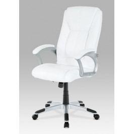 Kancelářská židle na kolečkách Autronic KA-N637 WT – bílá, s područkami