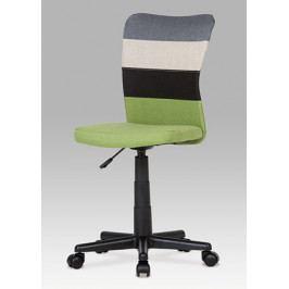 Dětská židle na kolečkách Autronic KA-N837 GRN – černá/krémová/šedá/zelená