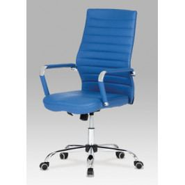 Kancelářská židle na kolečkách Autronic KA-Z615 BLUE – modrá, s područkami